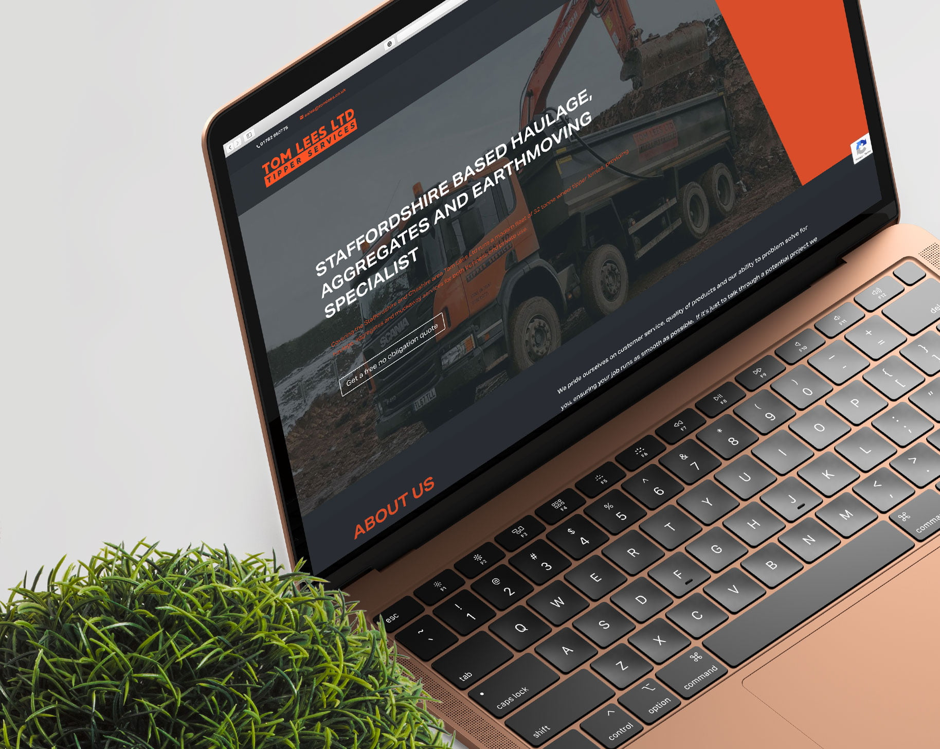 Tom Lees Ltd - website project