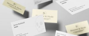 Business card design by Yellow Circle for Skinner & Hyde
